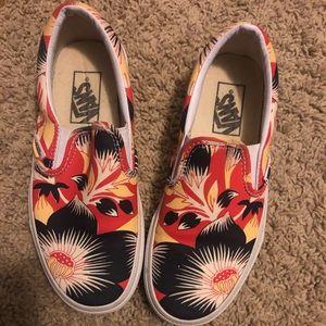 Slip on floral Vans